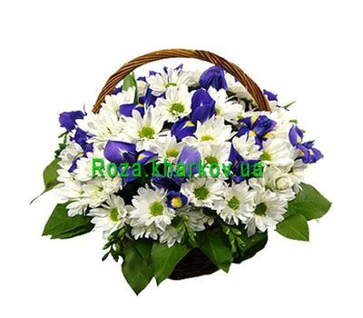 """Basket of flowers"" in the online flower shop roza.kharkov.ua"