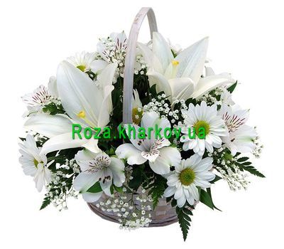 """""""Basket of flowers from lily"""" in the online flower shop roza.kharkov.ua"""