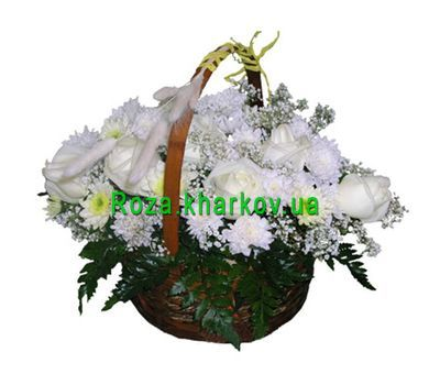 """Chrysanthemum Basket"" in the online flower shop roza.kharkov.ua"