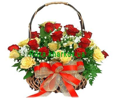 """Корзина из роз"" в интернет-магазине цветов roza.kharkov.ua"