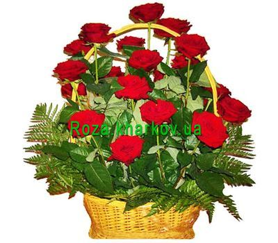 """Basket of roses"" in the online flower shop roza.kharkov.ua"