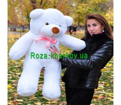 """Soft toy White bear"" in the online flower shop roza.kharkov.ua"