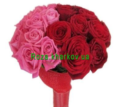 """An unusual bouquet of roses"" in the online flower shop roza.kharkov.ua"