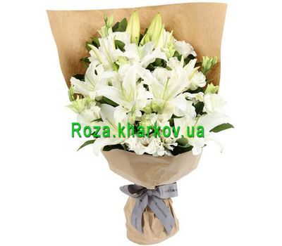 """An unusual bouquet of lilies"" in the online flower shop roza.kharkov.ua"
