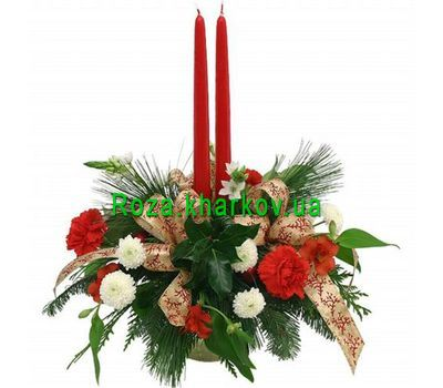 """New Year's composition"" in the online flower shop roza.kharkov.ua"