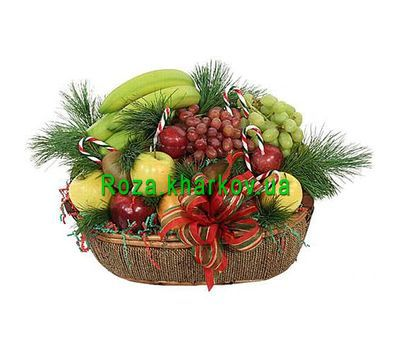 """Christmas basket"" in the online flower shop roza.kharkov.ua"