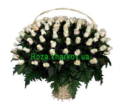 """Огромная корзина роз"" в интернет-магазине цветов roza.kharkov.ua"