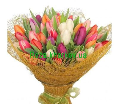 """A huge bouquet of tulips"" in the online flower shop roza.kharkov.ua"