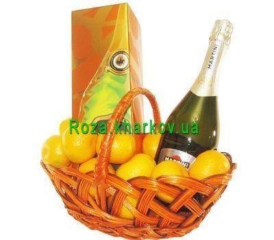 """Gift basket with elite champagne"" in the online flower shop roza.kharkov.ua"