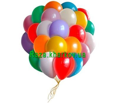 """Multicolored balloons"" in the online flower shop roza.kharkov.ua"
