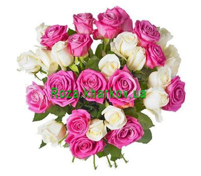 """Pink and white bouquet"" in the online flower shop roza.kharkov.ua"