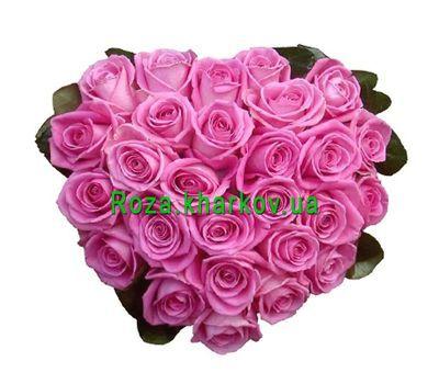 """""""Сердце цветы"""" в интернет-магазине цветов roza.kharkov.ua"""