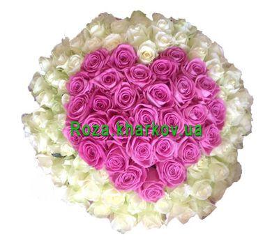 """""""Сердце из 101 розы"""" в интернет-магазине цветов roza.kharkov.ua"""