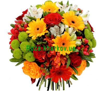 """Mega bright bouquet of flowers"" in the online flower shop roza.kharkov.ua"