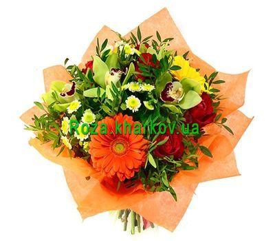 """""""Fairy bouquet with orchids"""" in the online flower shop roza.kharkov.ua"""