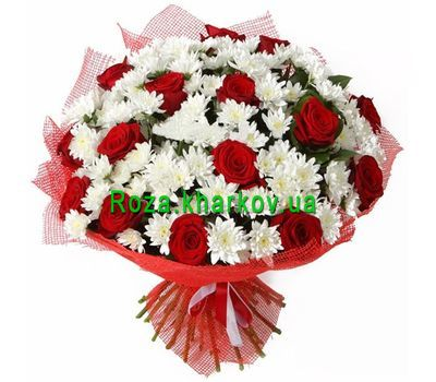 """Roses and chrysanthemums"" in the online flower shop roza.kharkov.ua"