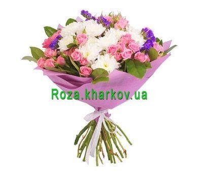 """""""Букет из кустовых роз и хризантем"""" в интернет-магазине цветов roza.kharkov.ua"""
