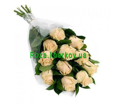 """Bouquet of cream roses"" in the online flower shop roza.kharkov.ua"